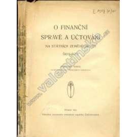 O finanční správě a účtování na SZŠ