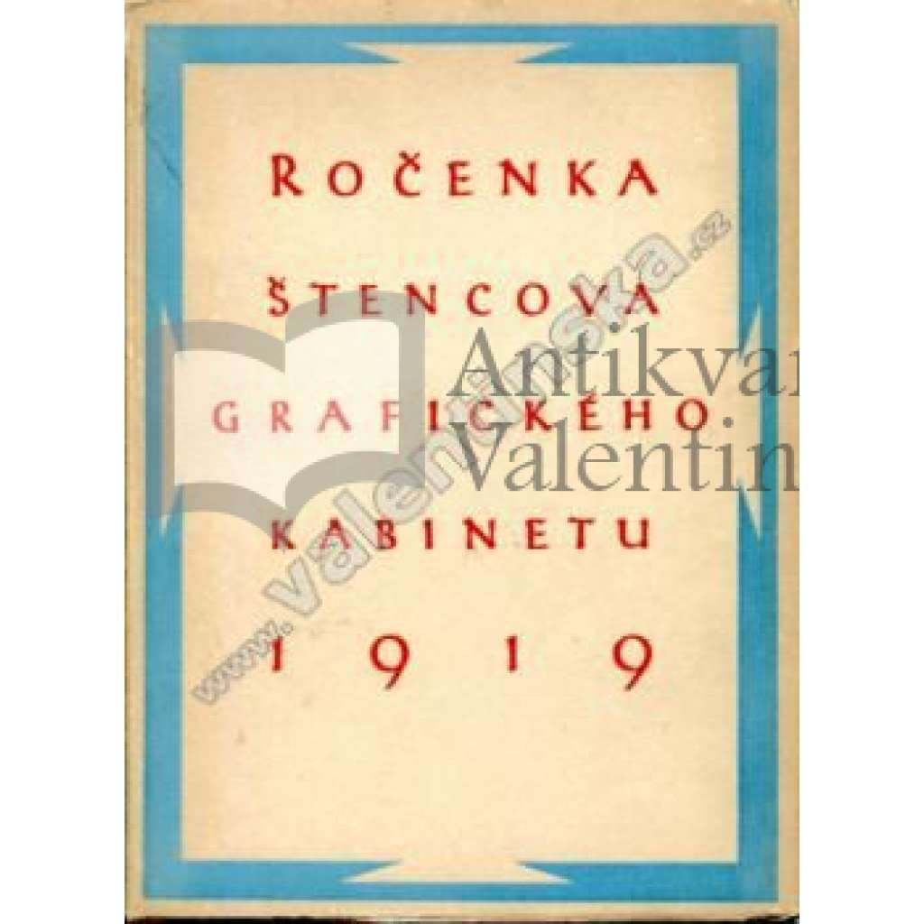 Ročenka Štencova grafického kabinetu, 1919