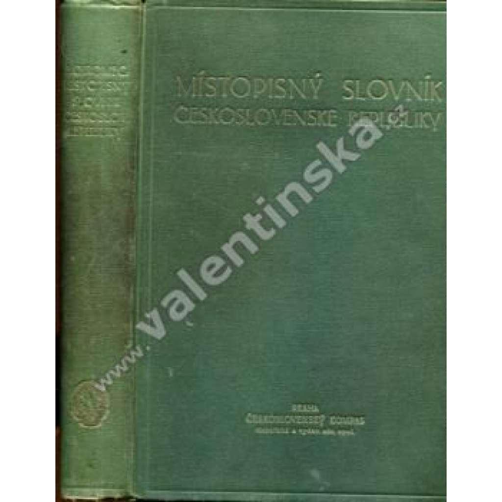 Místopisný slovník Československé republiky