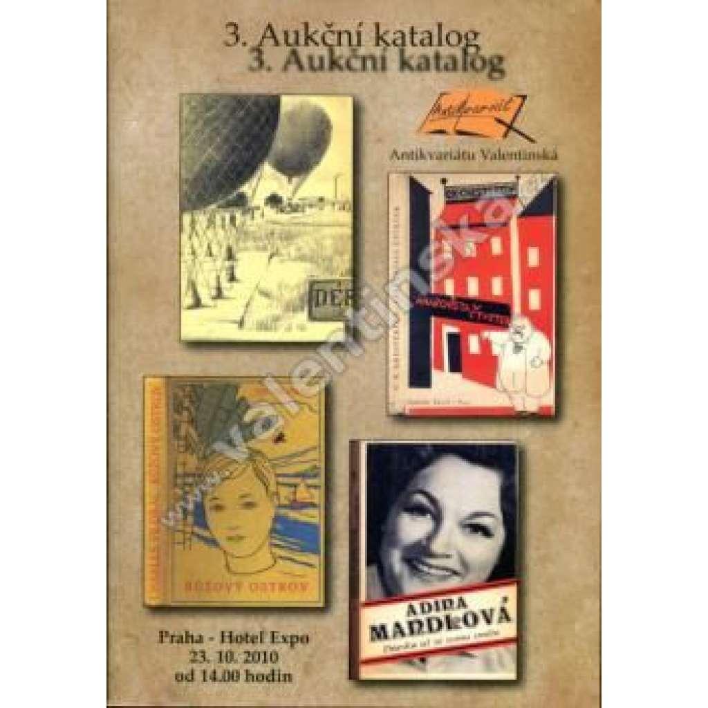 3. aukční katalog Antikvariátu Valentinská