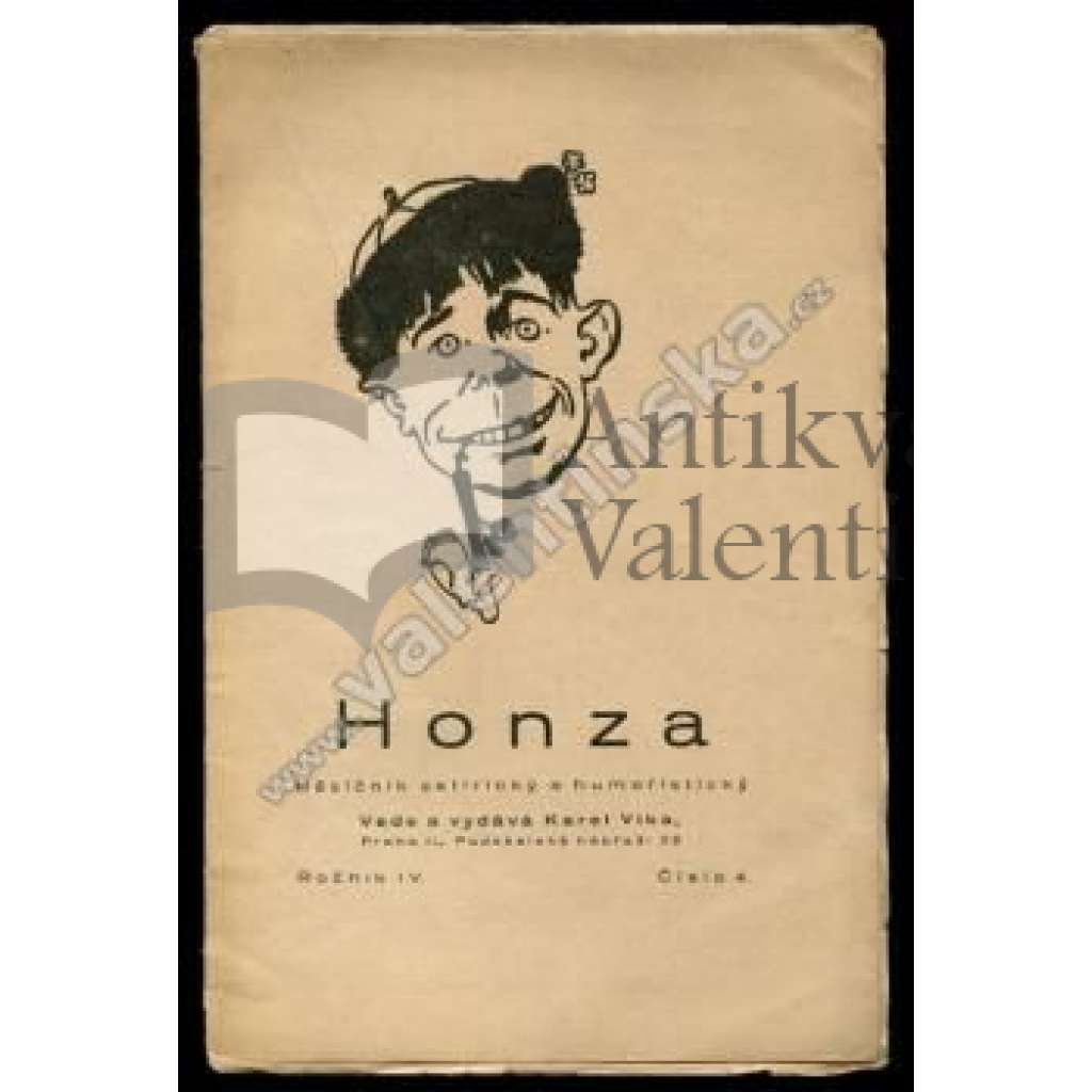 Honza, ročník IV., číslo 4. (1923)