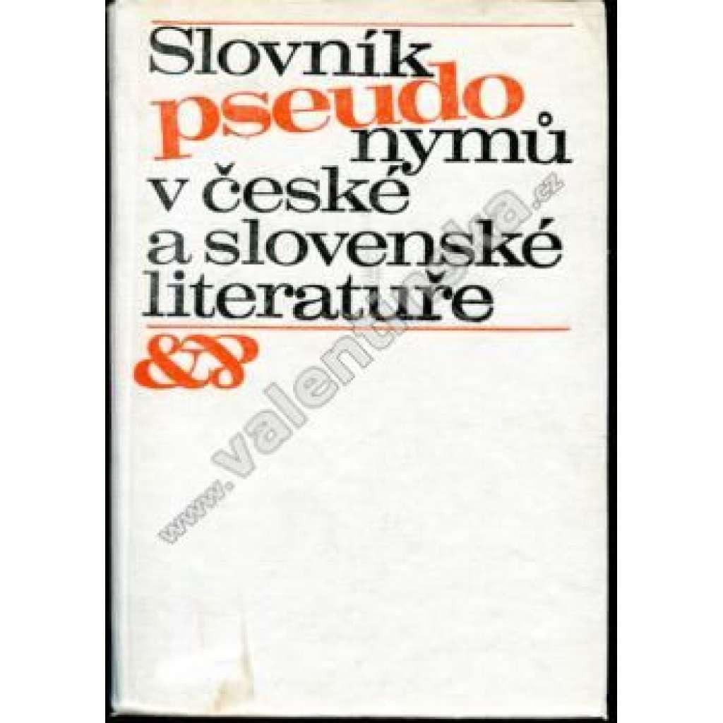 Slovník pseudonymů v české a slov. literatuře