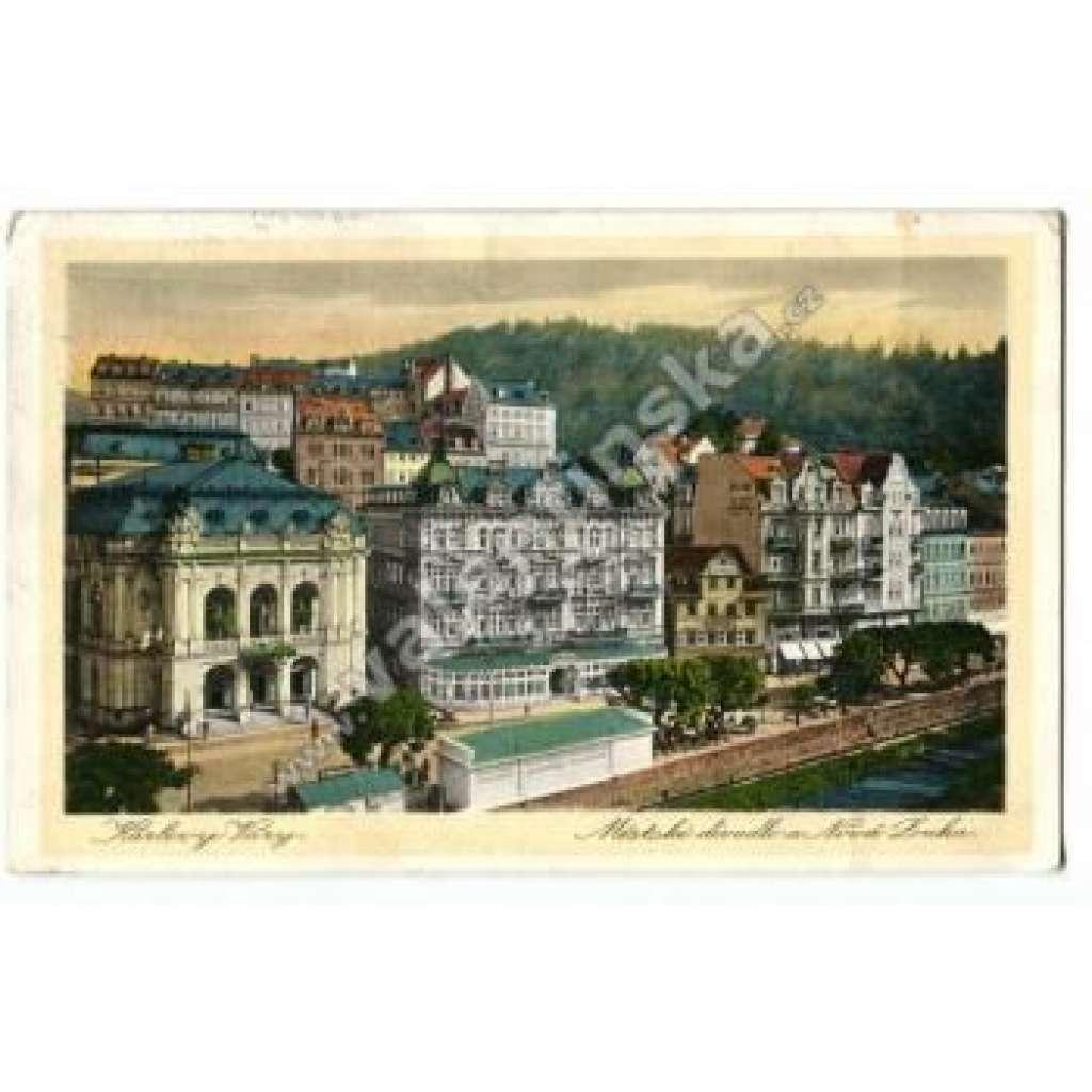 Karlovy Vary Karlsbad, nádherný vícebarevný