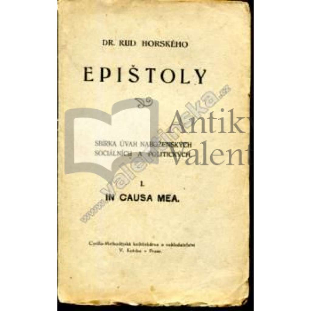 Epištoly: In causa mea