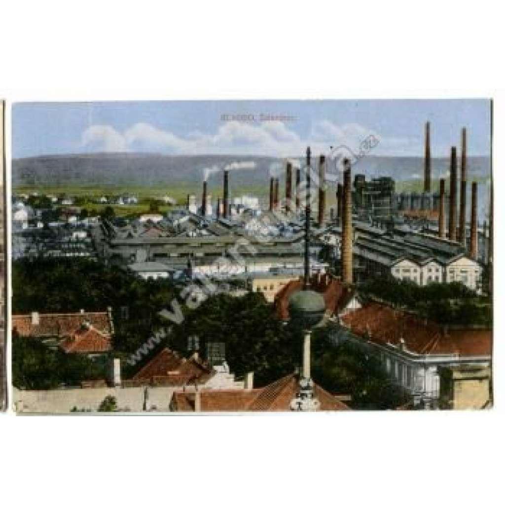 Kladno továrna komín průmysl železárna