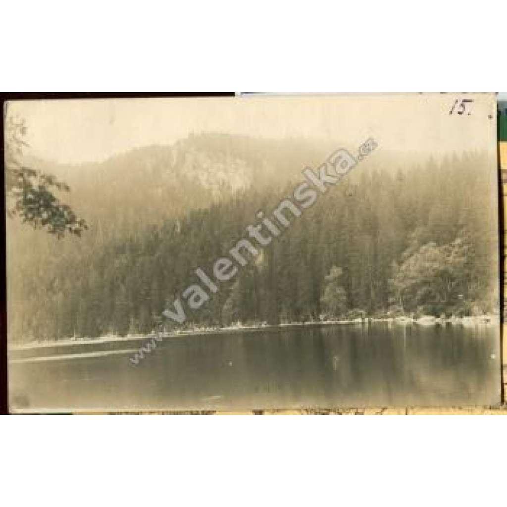 Jezero Laka Prášily Klatovy Šumava Bohmeerwald