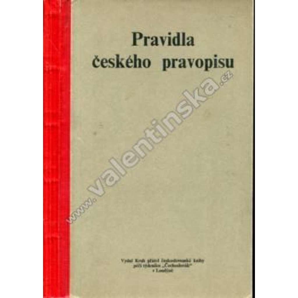Pravidla českého pravopisu (exilové vydání!)