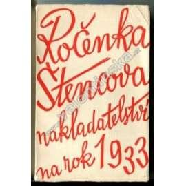 Ročenka Štencova nakladatelství na rok 1933