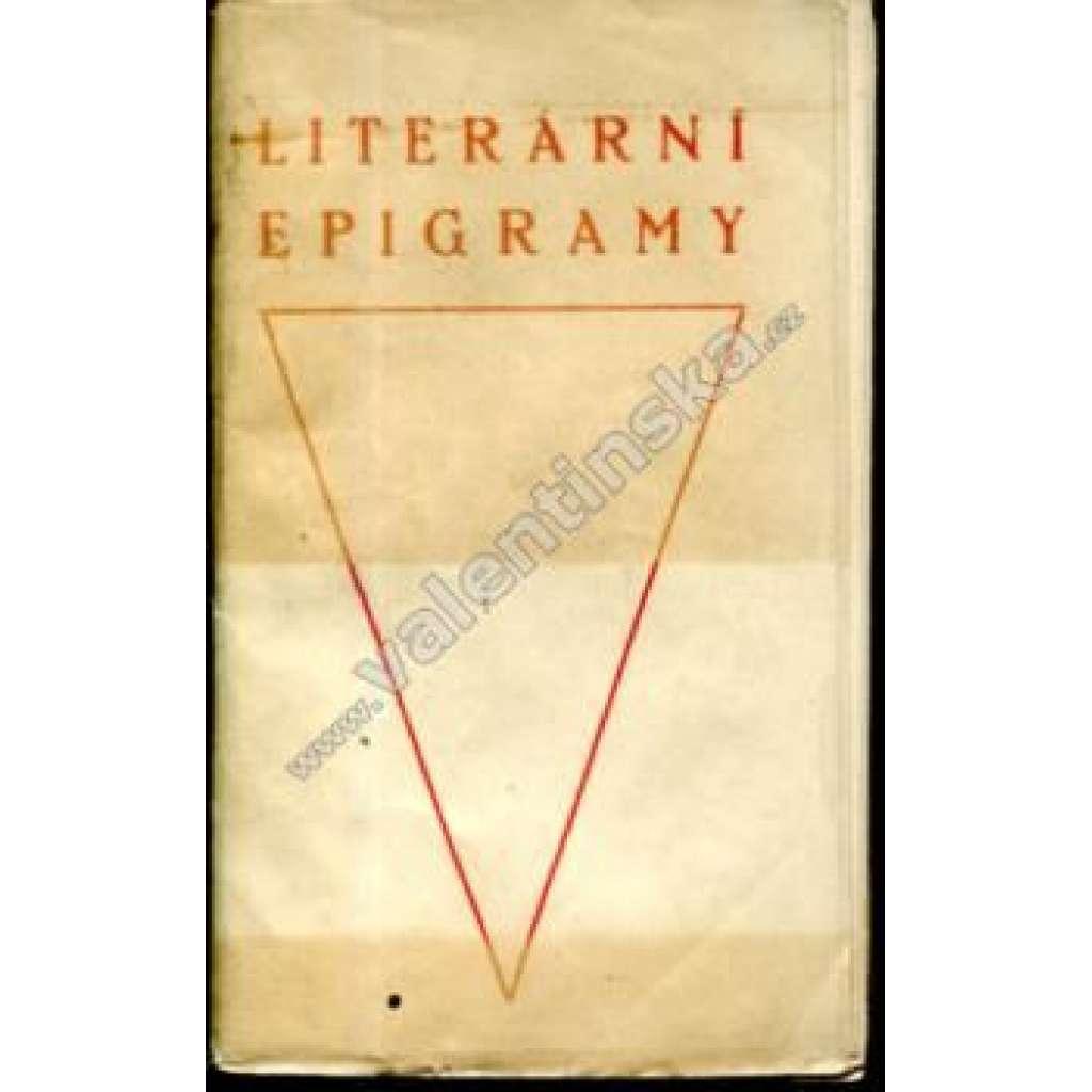 Literární epigramy