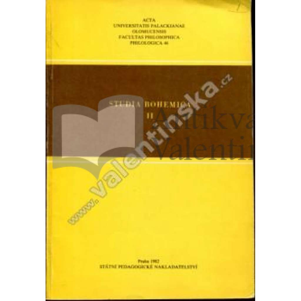 Studia Bohemica, II. (1982)