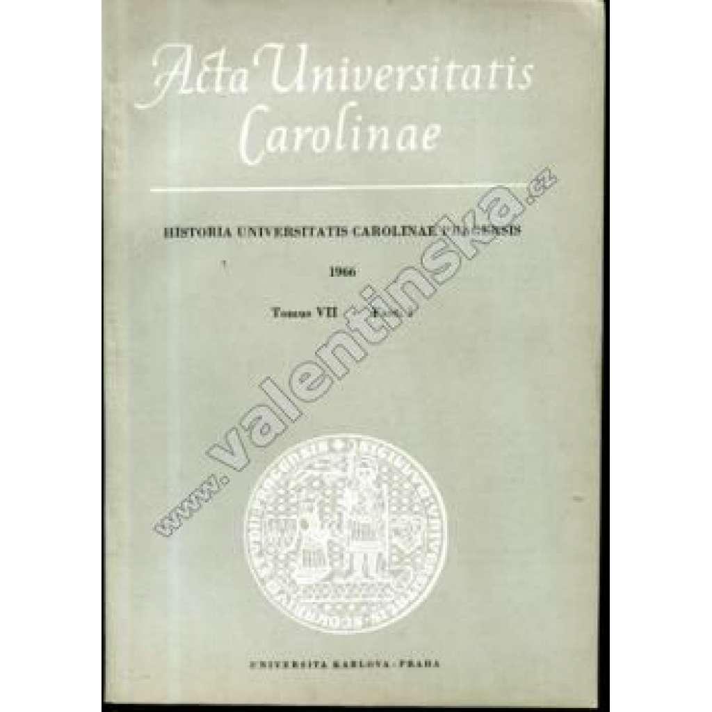 Historia Universitatis Carolinae Pragensis, VII/1