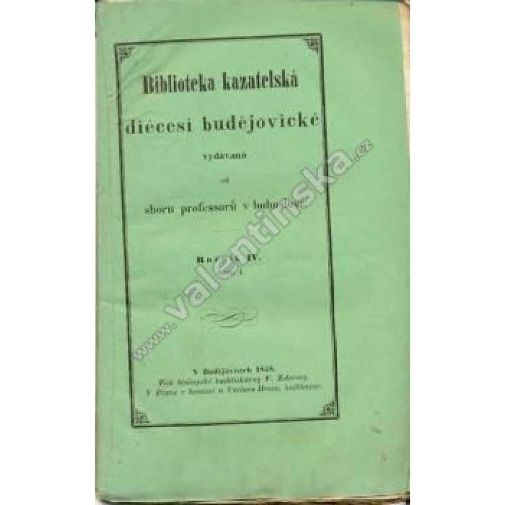 Biblioteka Kazatelská Budějovické Diécesi, r. IV.