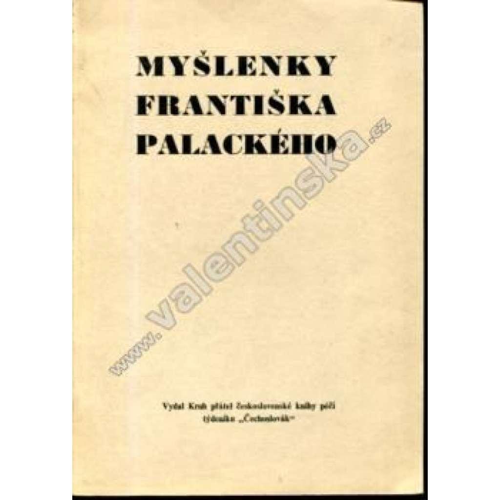 Myšlenky Františka Palackého (exilové vydání)