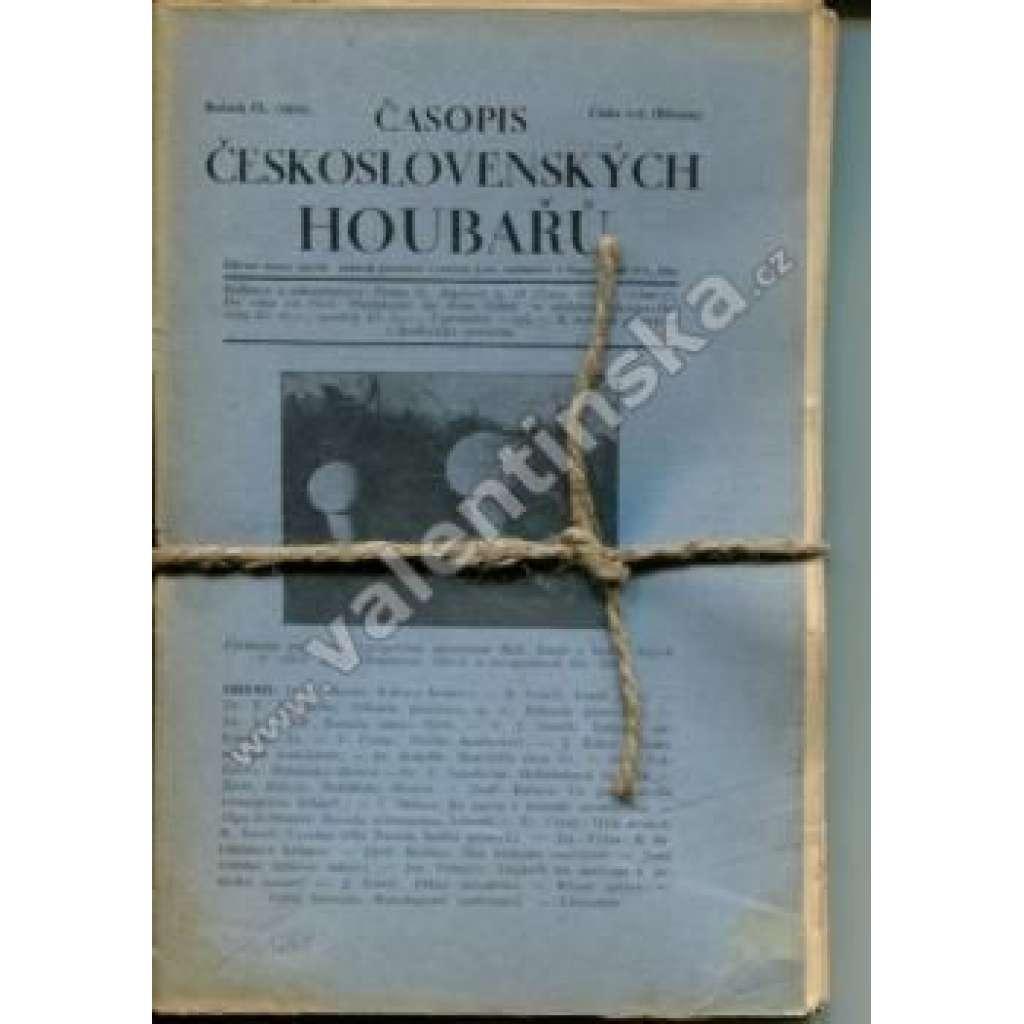 Časopis československých houbařů r. IX. (1929)