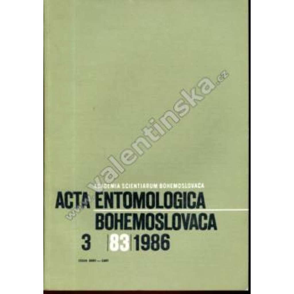 Acta entomologica bohemoslovaca, 3/1986