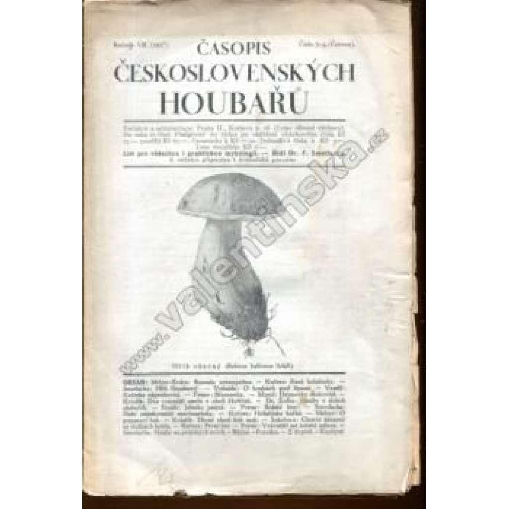 Časopis čsl. houbařů, r. VII. (1927), č. 3-4