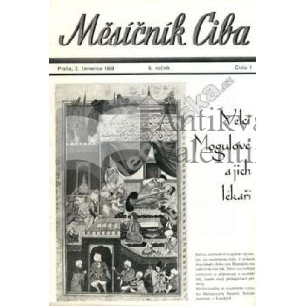 Měsíčník Ciba 1939. 6.ročník. Číslo 7.