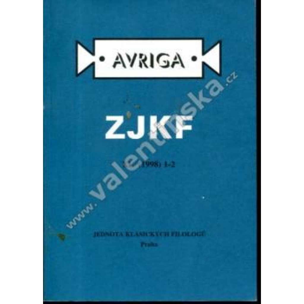 Zprávy Jednoty klasických filologů, 1-2/1998