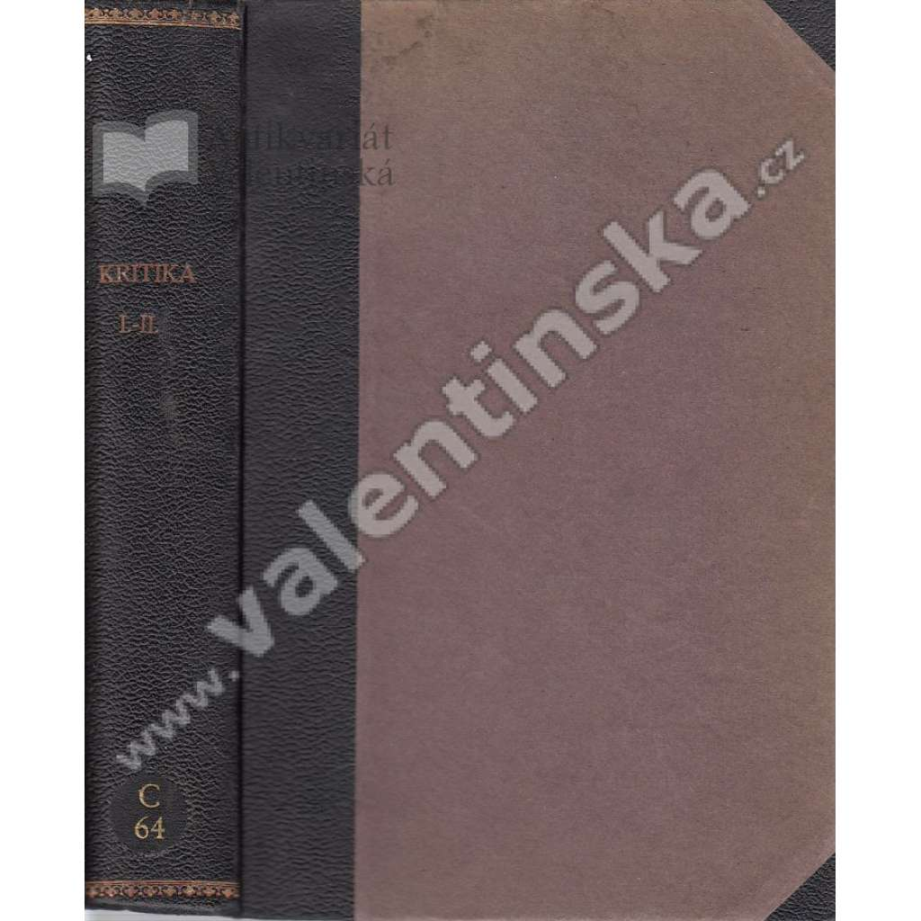 Kritika, r. I. a  II. (1924-25)