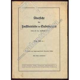 Übersicht der Forstbetriebe im Sudetengau