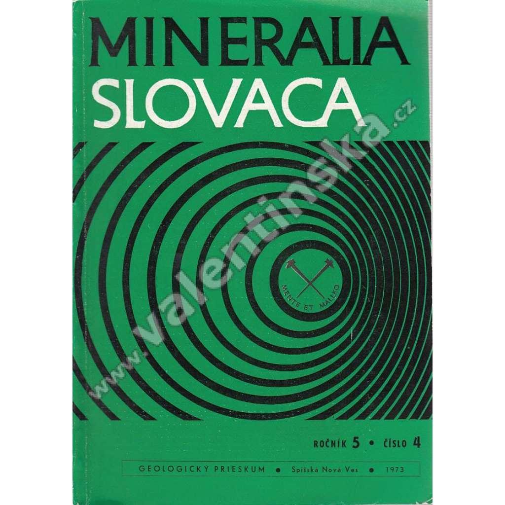 Mineralia Slovaca, roč. 5. (1973), č. 4