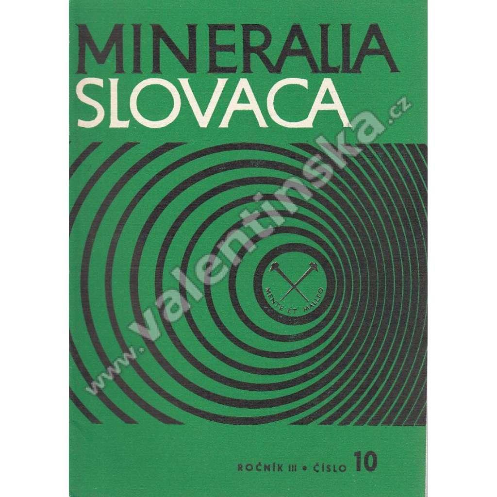 Mineralia Slovaca, roč. III. (1971), č. 10