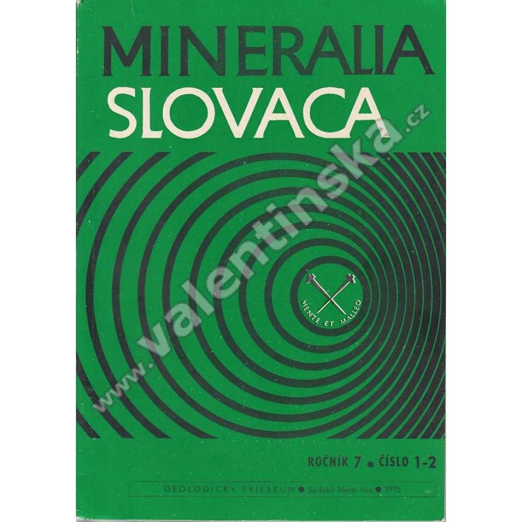 Mineralia Slovaca, roč. 7. (1975), č. 1-2
