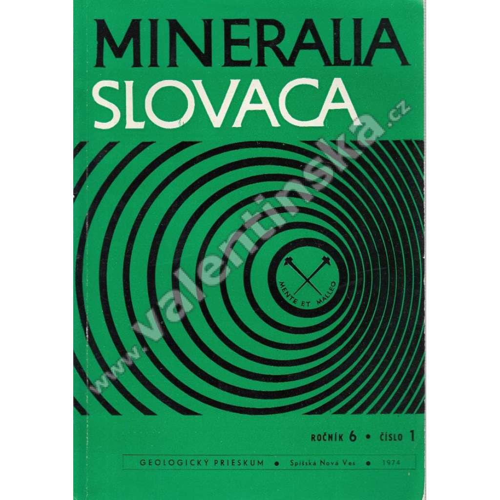 Mineralia Slovaca, roč. 6. (1974), č. 1