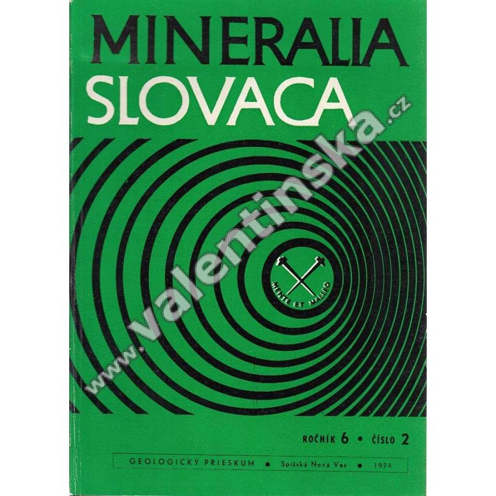 Mineralia Slovaca, roč. 6. (1974), č. 2