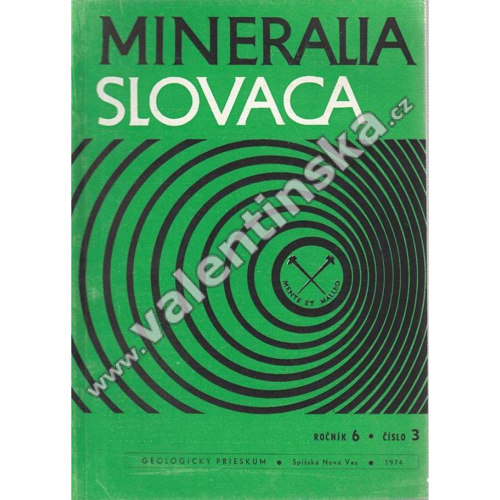 Mineralia Slovaca, roč. 6. (1974), č. 3