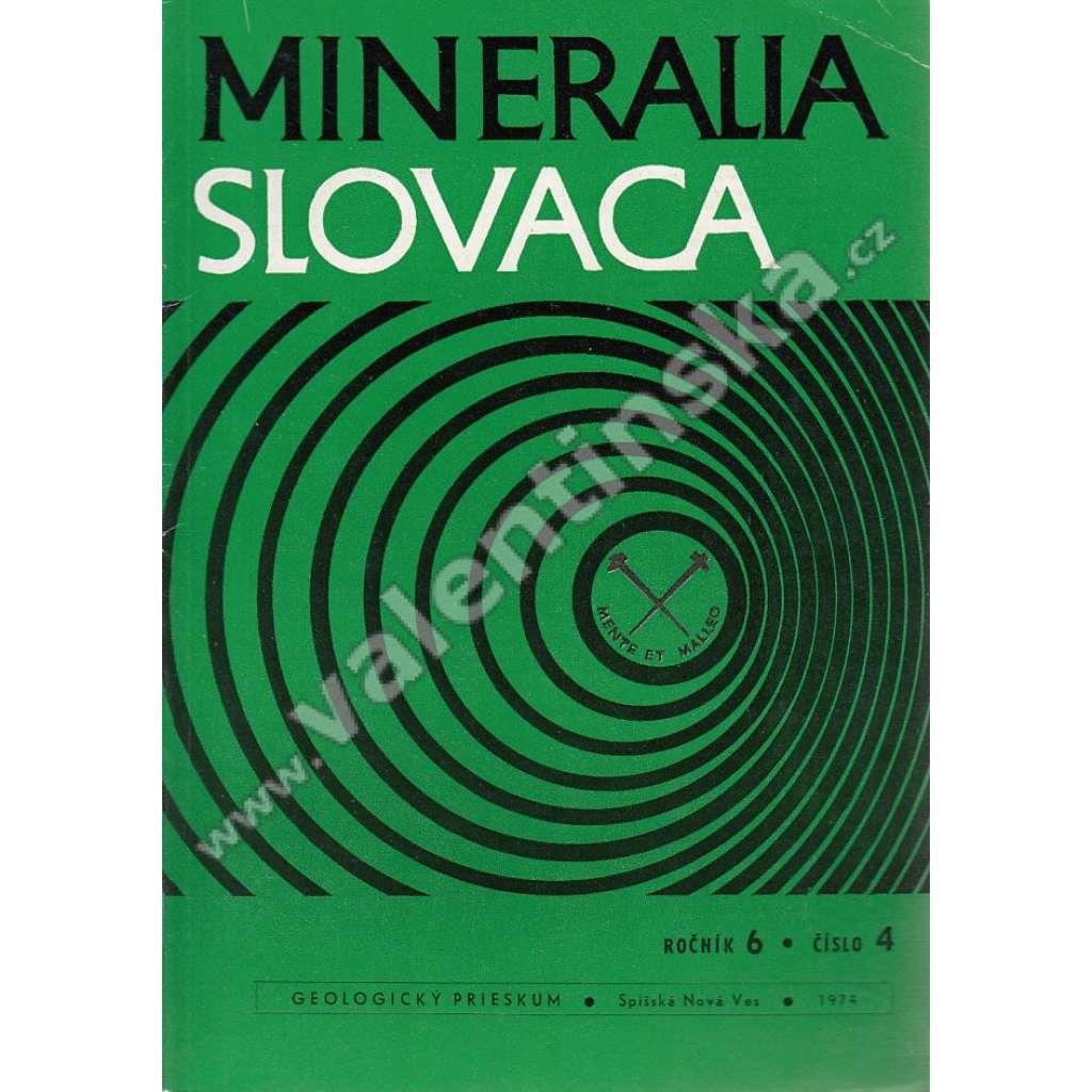 Mineralia Slovaca, roč. 6. (1974), č. 4