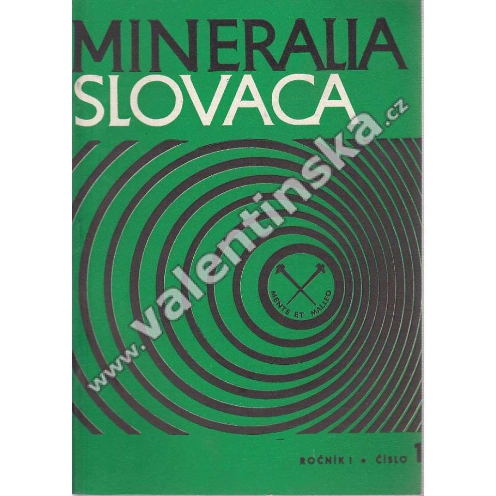 Mineralia Slovaca, roč. I. (1969), č. 1