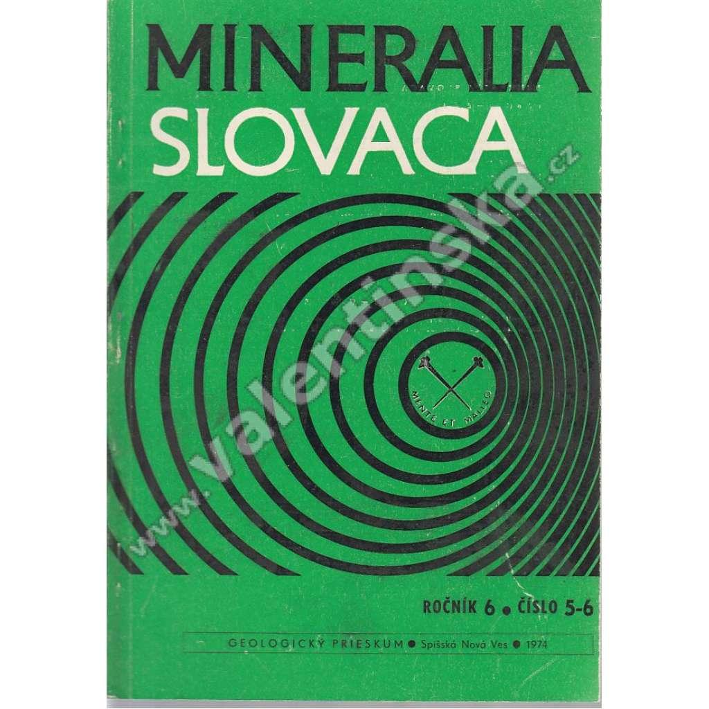 Mineralia Slovaca, roč. 6. (1974), č. 5-6