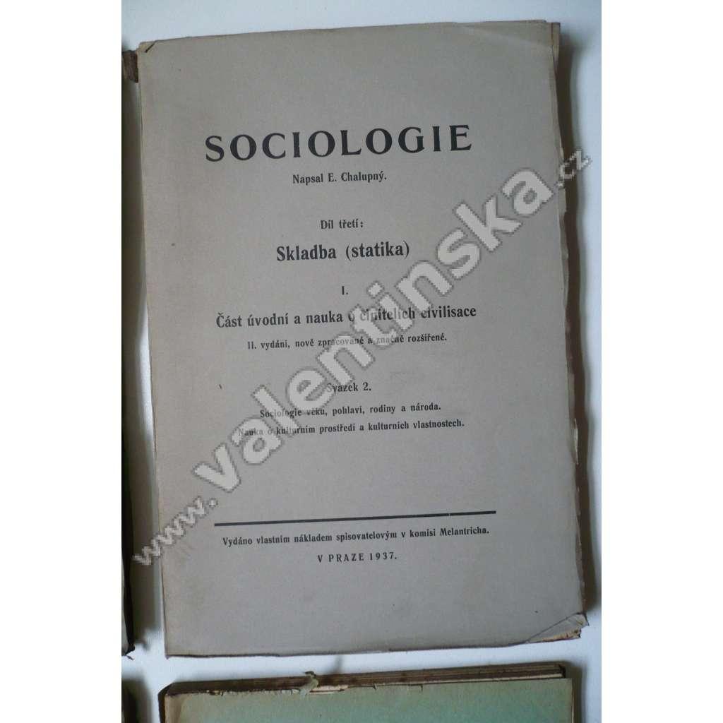 Sociologie III  - I - 2 Sociologie věku, pohlaví,