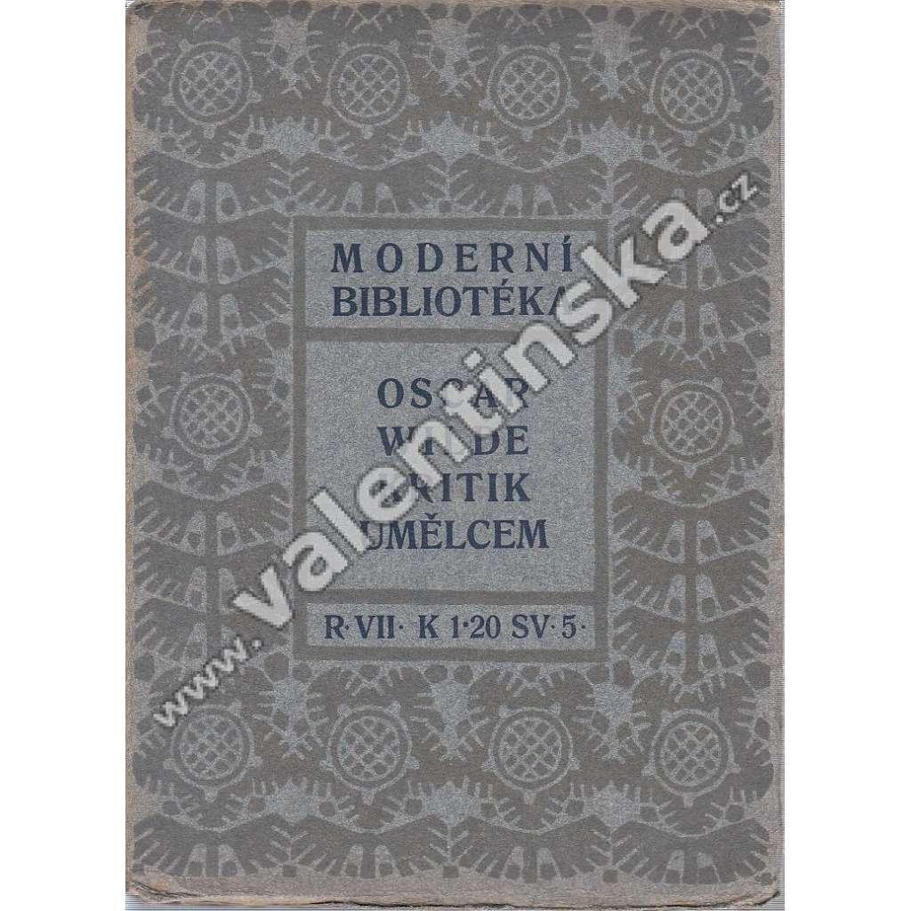 Kritik umělcem (ed. Moderní bibliotéka)