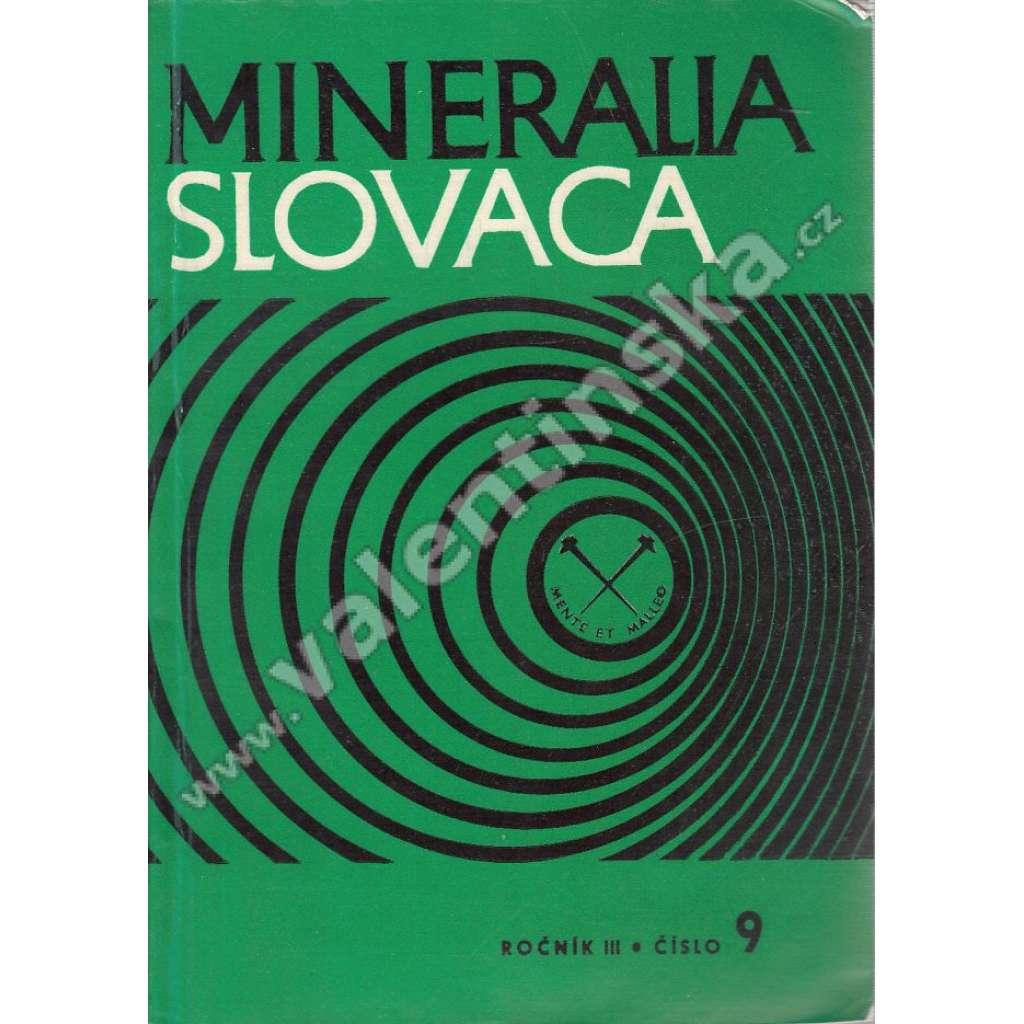 Mineralia Slovaca, roč. III. (1971), č. 9