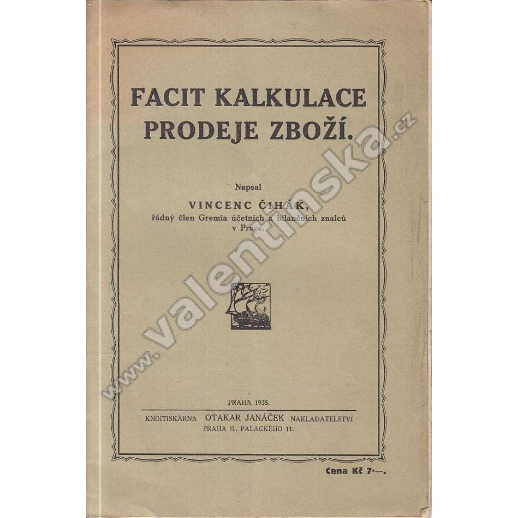 Facit kalkulace prodeje zboží