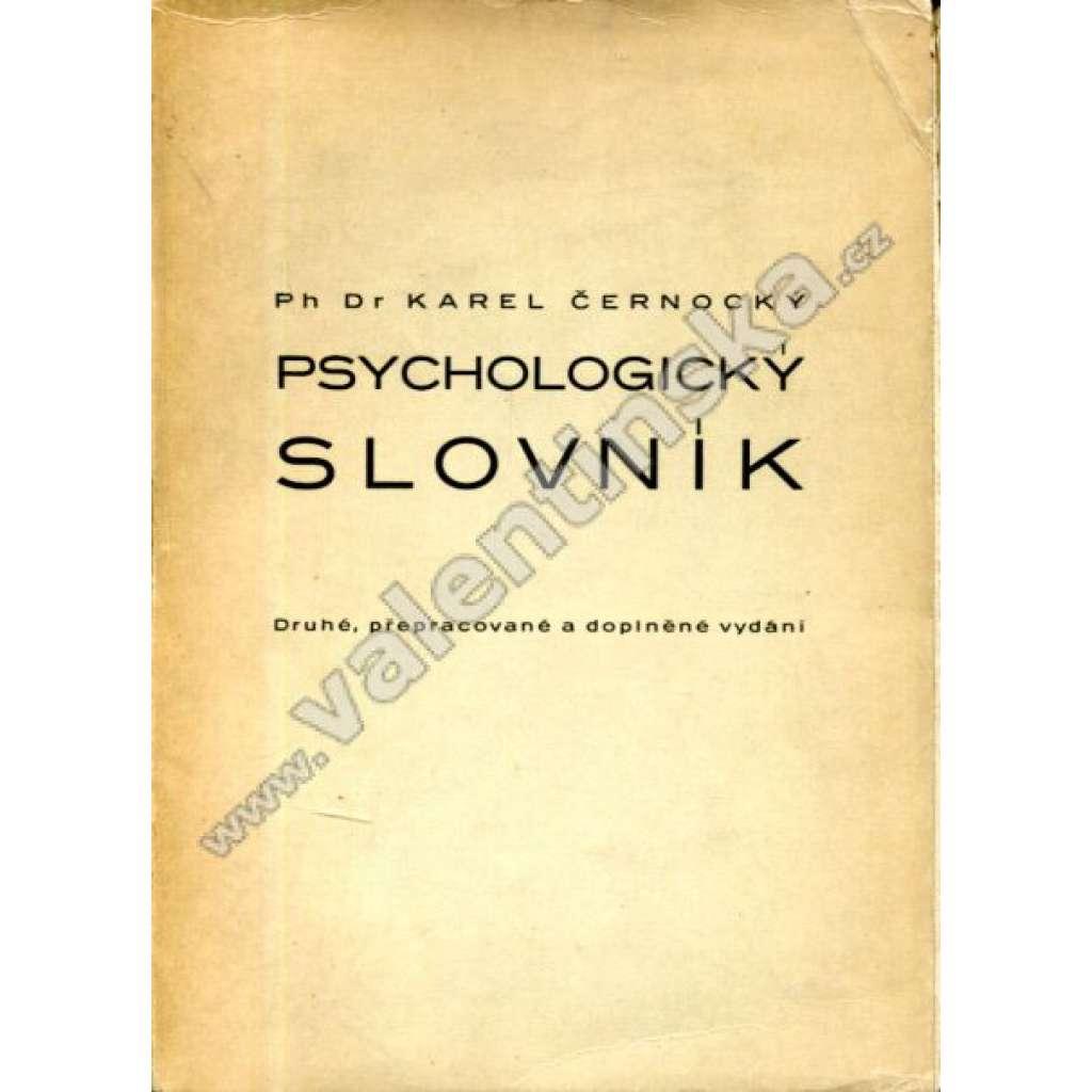 Psychologický slovník  A-M