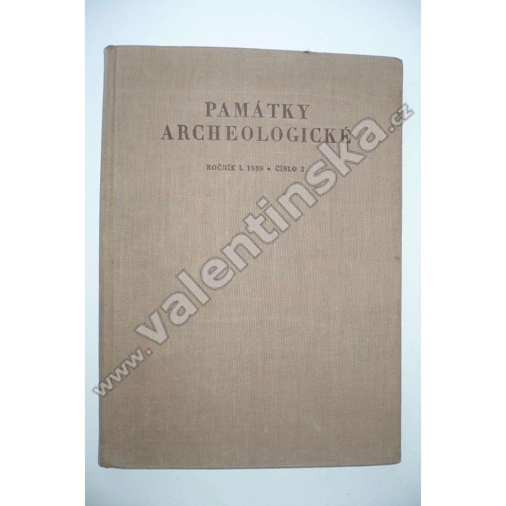 Památky archeologické, ročník L 1959, č. 2