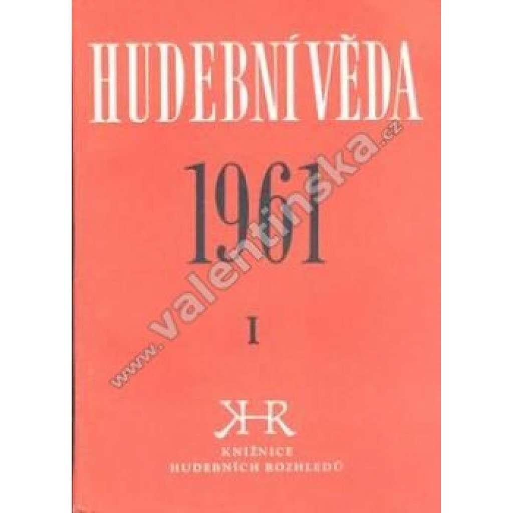 Hudební věda 1961/I.