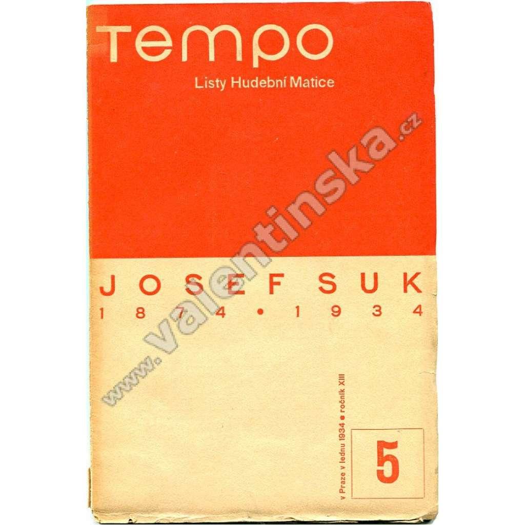 Josef Suk (Tempo 1934 - listy hudební matice) -  typografie Ladislav Sutnar