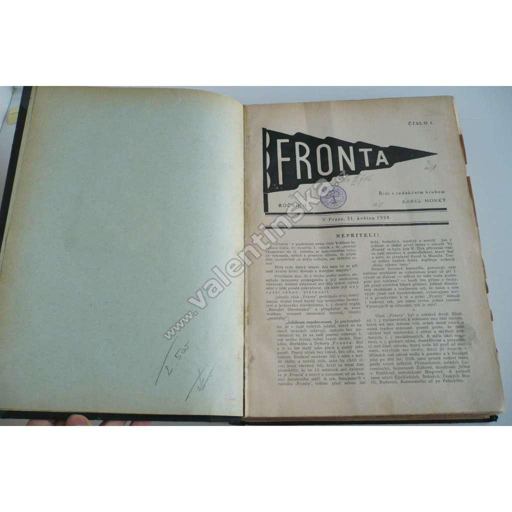 Fronta, ročník II. (1928-1929)