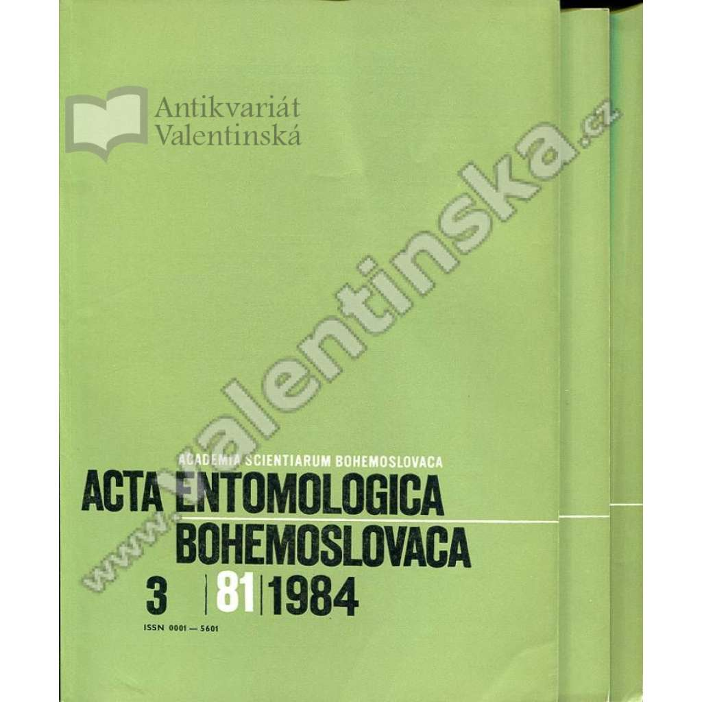 Acta entomologica bohemoslovaca, 1984