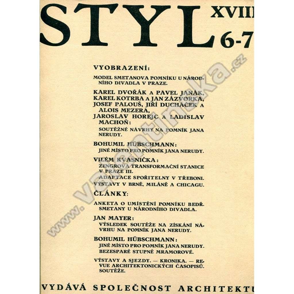 Styl 6-10 / XVIII (1933)
