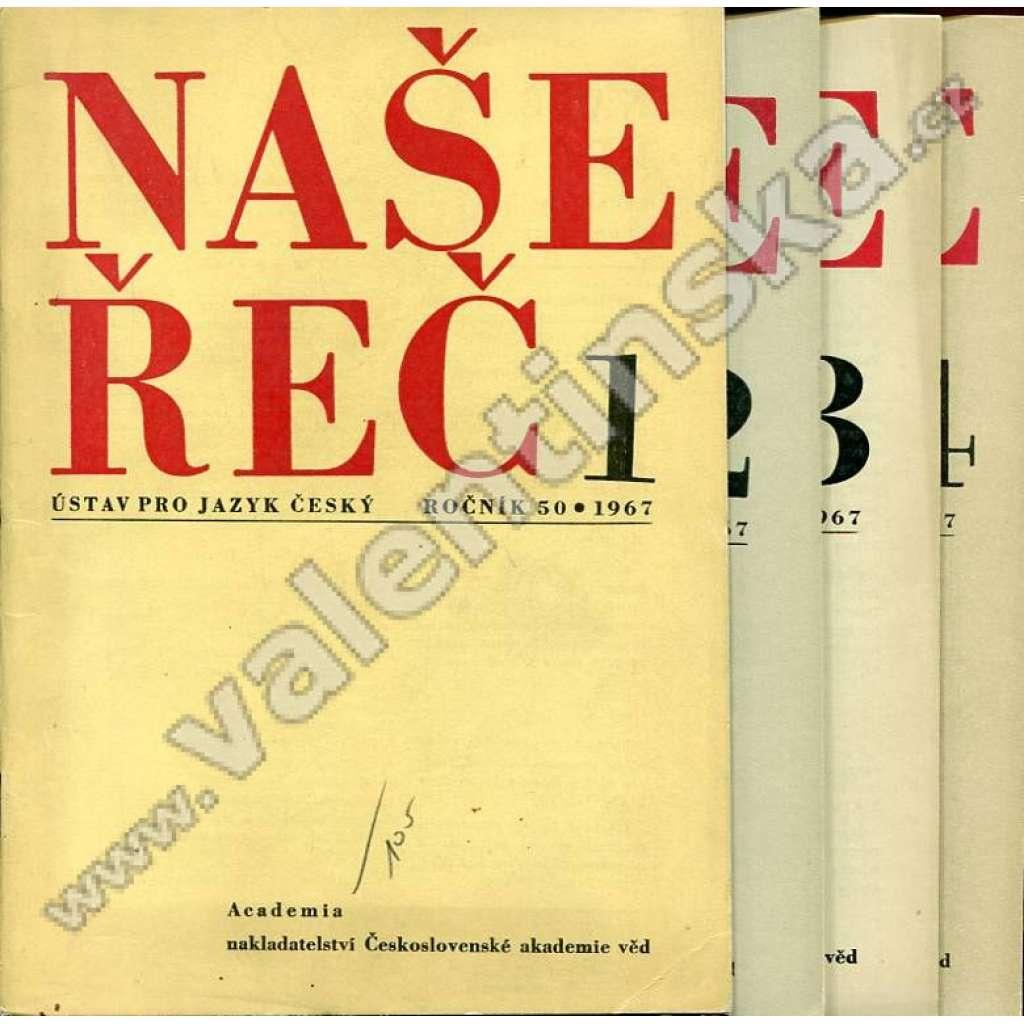 Naše řeč, r. 50. (1967), sešity, nekompletní!