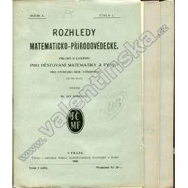 Rozhledy matematicko-přírodovědecké, 1930-31