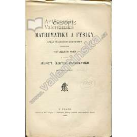 Časopis pro pěstování mathematiky a fysiky, 1896