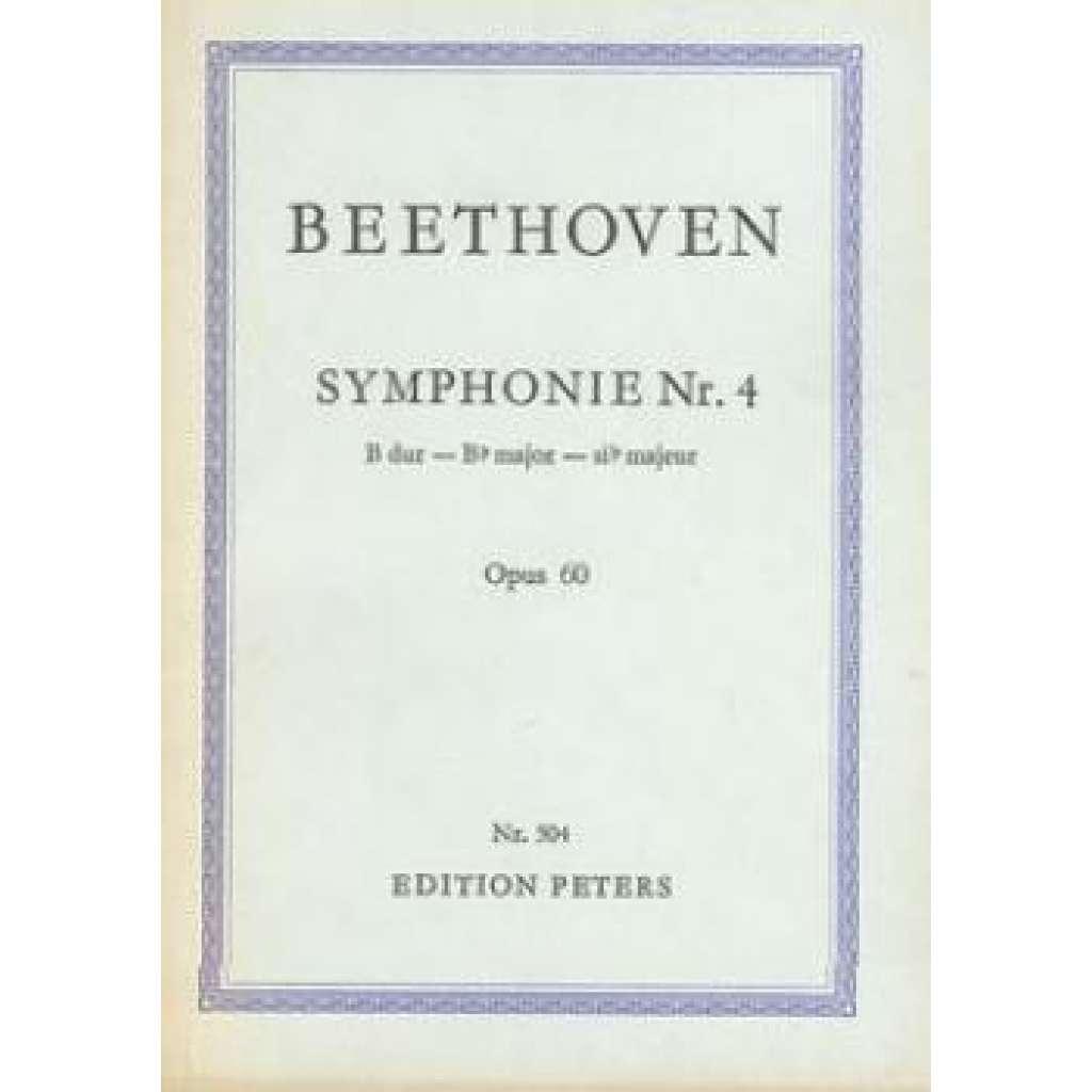 Symphonie Nr.4.  B dur-B major-si majeur