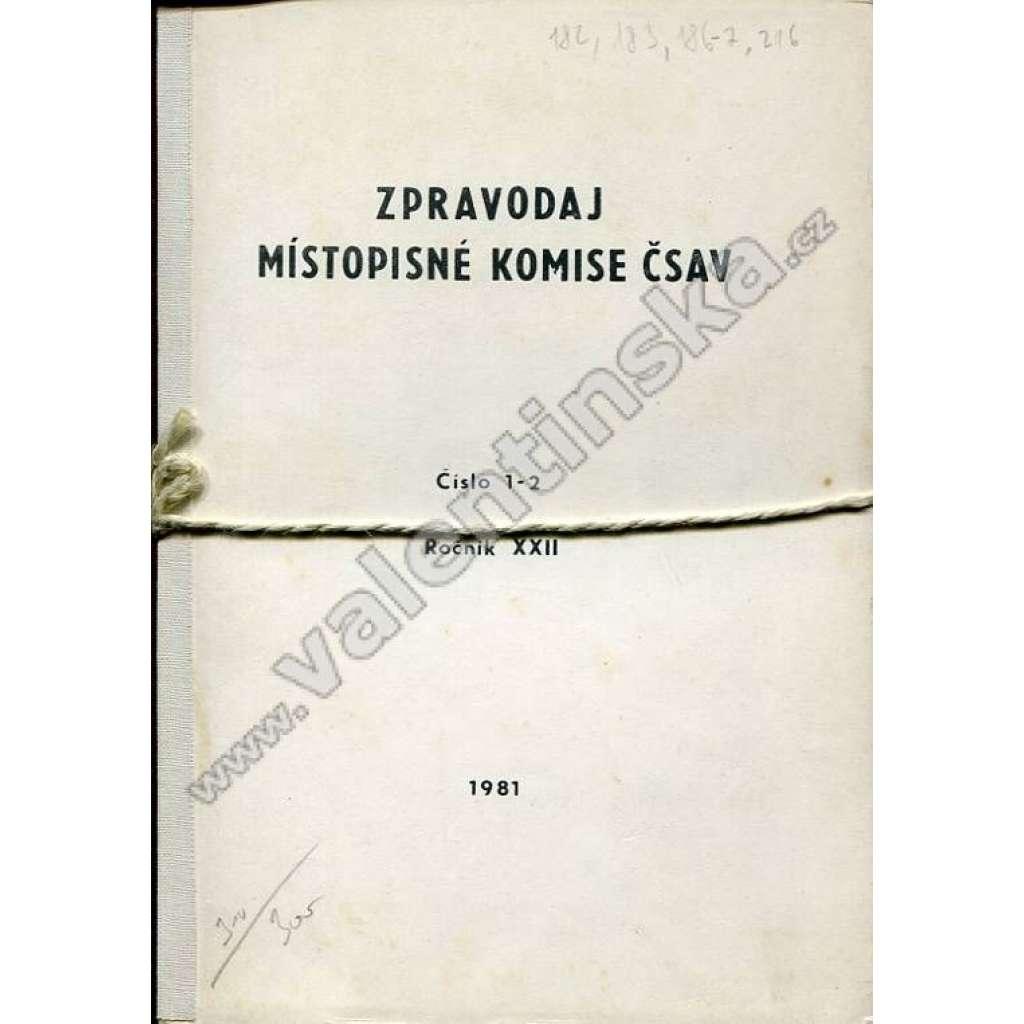 Zpravodaj Místopisné komise ČSAV, 1981