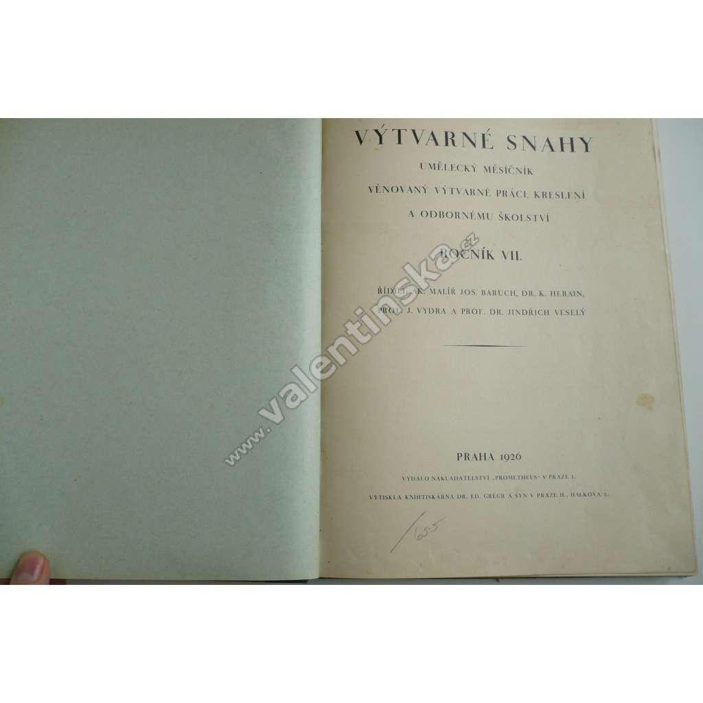 Výtvarné snahy, ročník VII. -1926